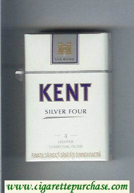 Discount Kent USA Blend Silver Four 4 Lighter Charcoal Filter cigarettes hard box