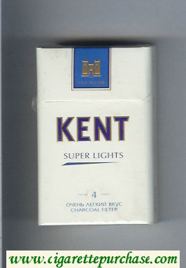 Kent USA Blend Super Lights 4 Ochen Legkij Vkus T Charcoal Filter cigarettes hard box