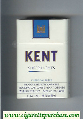 Kent USA Blend Super Lights Charcoal Filter cigarettes hard box