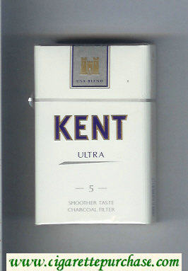 Discount Kent USA Blend Ultra 5 Smoosher Taste Charcoal Filter cigarettes hard box