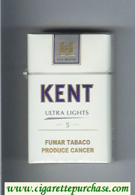 Discount Kent USA Blend Ultra Lights 5 cigarettes hard box