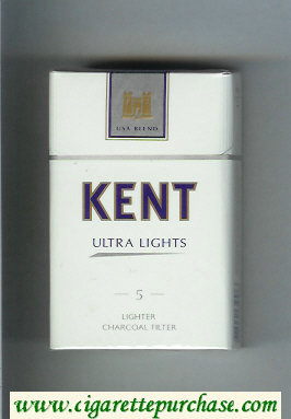 Discount Kent USA Blend Ultra Lights 5 Lighter Charcoal Filter cigarettes hard box