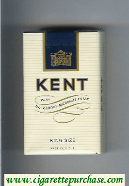 Kent With The Famous Micronite Filter cigarettes soft box