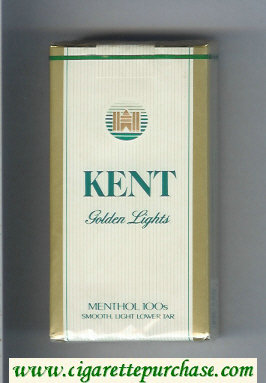 Kent Golden Lights Menthol 100s cigarettes soft box
