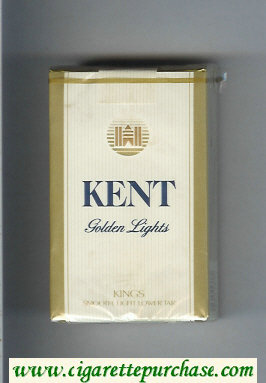 Kent Golden Lights cigarettes soft box
