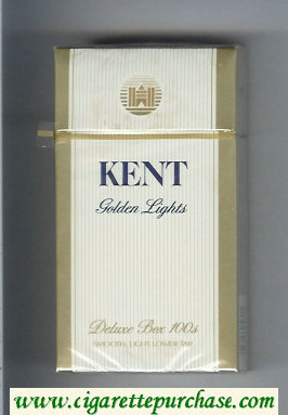 Kent Golden Lights Deluxe 100s cigarettes hard box