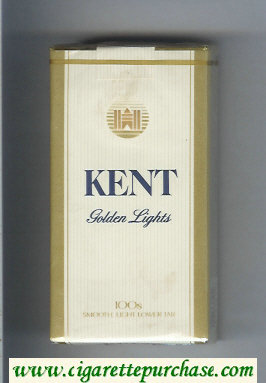 Kent Golden Lights 100s cigarettes soft box
