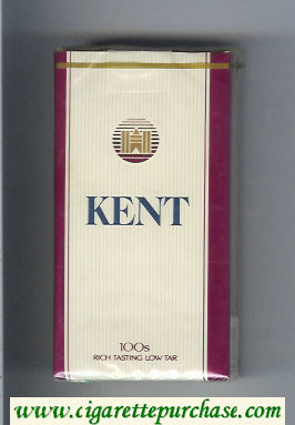 Kent 100s cigarettes soft box