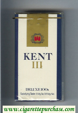 Kent III Deluxe 100s cigarettes soft box