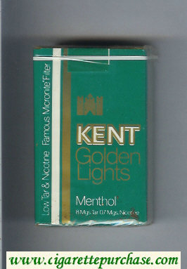 Discount Kent Golden Lights Famous Micronite Filter Menthol cigarettes soft box