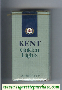 Discount Kent Golden Lights Menthol 100s cigarettes soft box