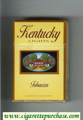 Kentucky Lights Tobaccos American Blend cigarettes hard box