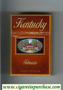 Kentucky Tobaccos American Blend cigarettes hard box