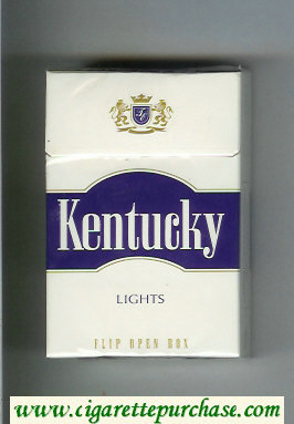 Kentucky Lights cigarettes hard box