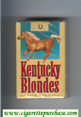 Kentucky Blondes cigarettes soft box