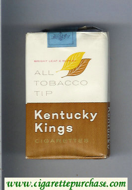 Kentucky Kings All Tobacco Tip cigarettes soft box