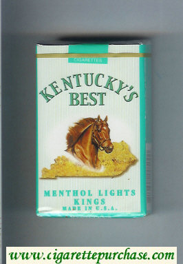 Kentucky's Best Menthol Lights Kings cigarettes soft box