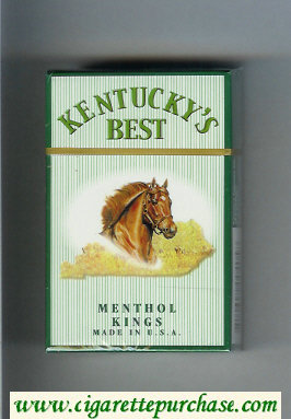 Kentucky's Best Menthol Kings cigarettes hard box