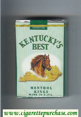 Kentucky's Best Menthol Kings cigarettes soft box
