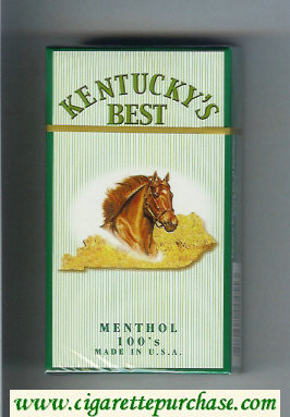 Kentucky's Best Menthol 100s cigarettes hard box