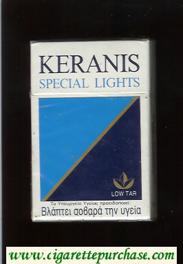 Keranis Special Lights cigarettes hard box