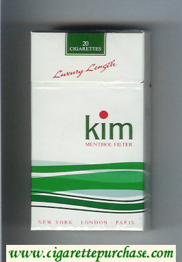 Kim Menthol Filter 100s cigarettes hard box