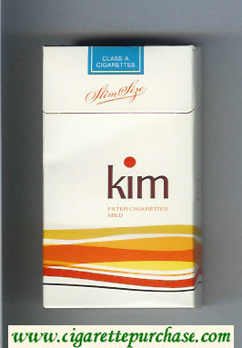Kim Mild 100s cigarettes hard box