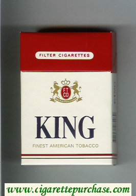 King Finest American Tobacco cigarettes hard box