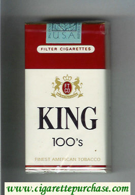 King Finest American Tobacco 100s cigarettes soft box