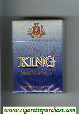 King American Blend Full Flavor cigarettes hard box