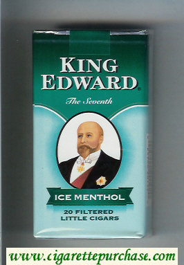 King Edward Little Cigars Ice Menthol 100s cigarettes soft box