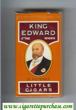 King Edward Little Cigars 100s cigarettes soft box