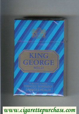 King George Mild cigarettes hard box