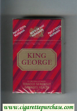 Discount King George cigarettes hard box