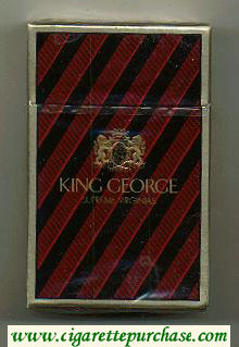 Discount King George hard box cigarettes
