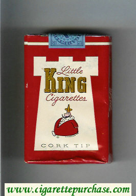 King Little cigarettes Cork Tip soft box