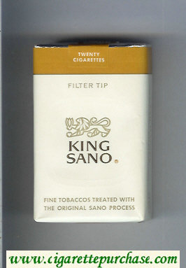 King Sano Filter Tip cigarettes soft box