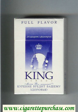 King StreetFull Flavor cigarettes hard box