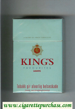 King's Favourites Lights light blue cigarettes hard box