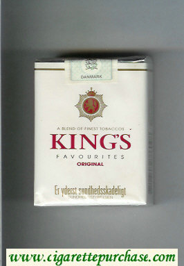 King's Favourites Original white cigarettes soft box