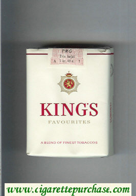 Discount King's Favourites white cigarettes soft box
