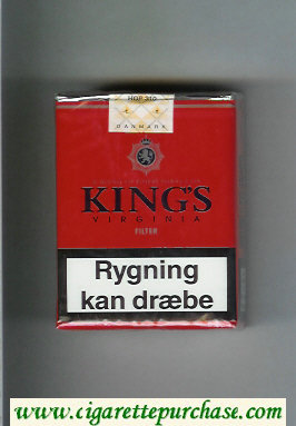 King's Virginia Filter red cigarettes soft box