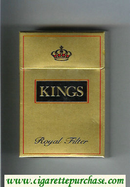 Kings Royal Filter gold cigarettes hard box