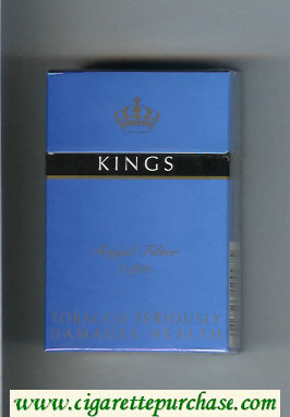Kings Royal Filter Lights blue cigarettes hard box