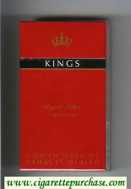 Kings Royal Filter 100s red cigarettes hard box