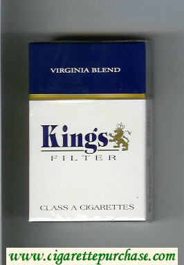 Kings Filter Virginia Blend cigarettes hard box