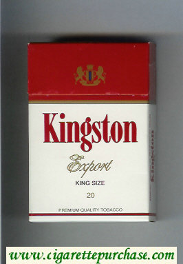 Kingston Export cigarettes hard box
