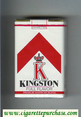 Kingston K Full Flavor cigarettes soft box