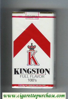 Kingston K Full Flavor 100s cigarettes soft box