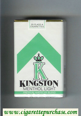 Kingston K Menthol Light cigarettes soft box